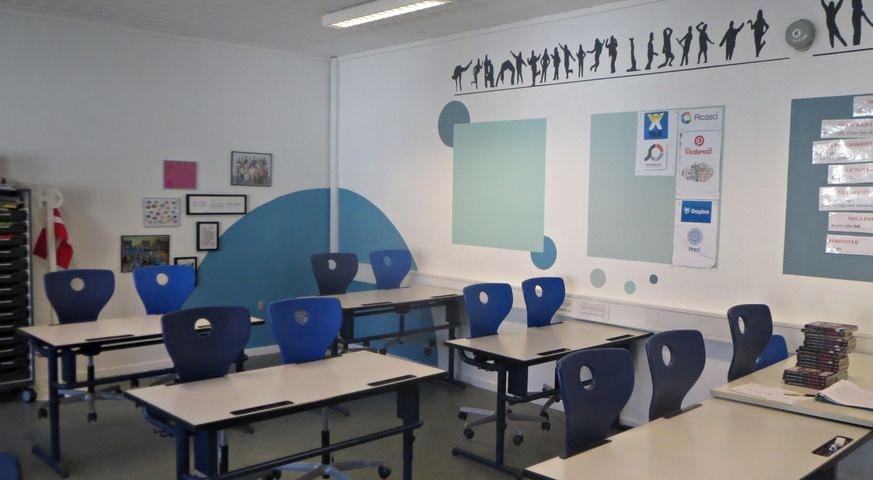 Udsmykningsprojekt af klasselokale