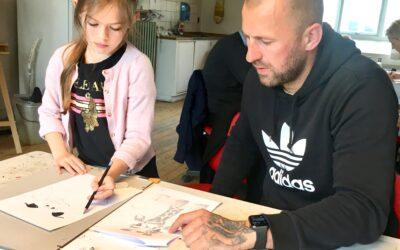 Tegne-workshop forældre/barn